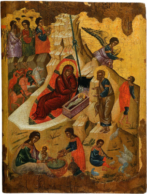 Icon Painting. Christmas