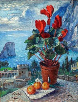 David Davidovich Burliuk. Cyclamen.Capri