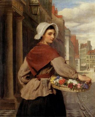 Уильям Пауэлл Фрайт. Корзина с цветами