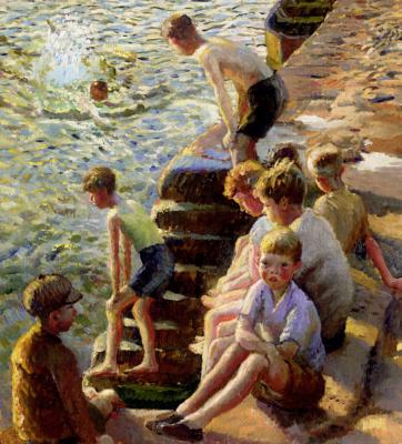 Гарольд Харви. Плавание