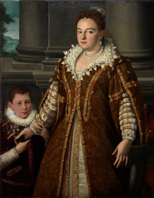 Alessandro Allori. The Grand Duchess Bianca Capello de Medici with her son. 1580-1614