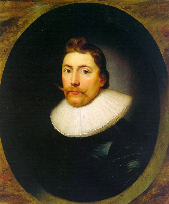 Корнелиус Джонсон. Мужской портрет