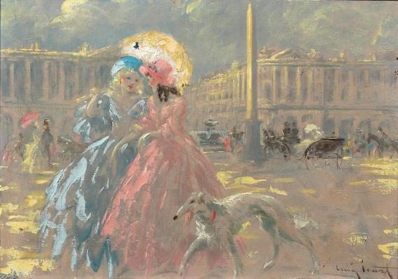 Икар Луи Франция 1888 - 1950. Площадь Согласия.
