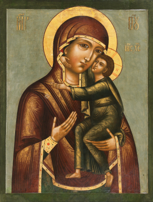 Icon Painting. Our Lady of Tolga