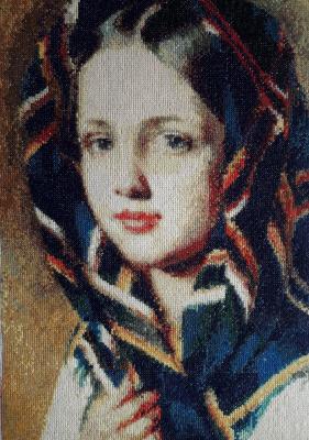 Tatyana Nikulina. Girl in a scarf