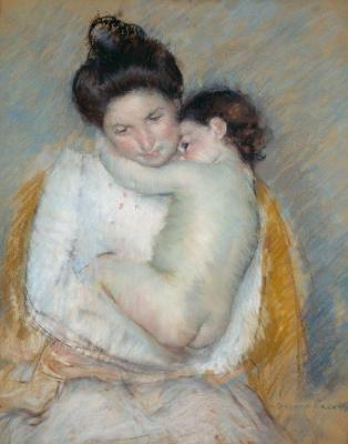 Mary Cassatt. Mother and child