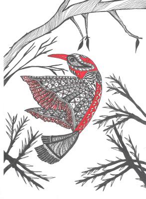 "Николай Николаевич Оларь. Series of stylized drawings, ""Birds"" (8)"