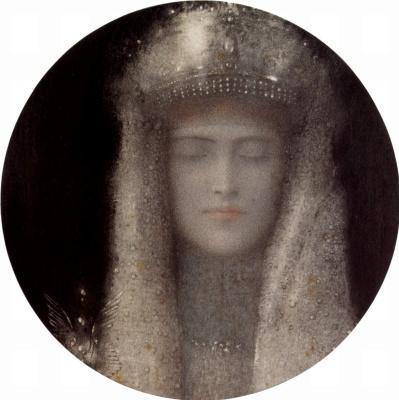 Fernand Knopf. Silver tiara