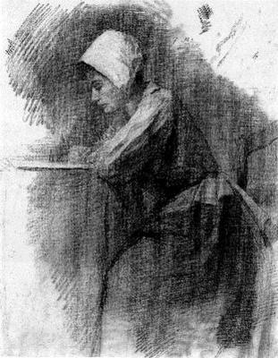 Piet Mondrian. Writing girl