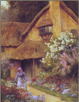 Артур Клод Стречен. В саду