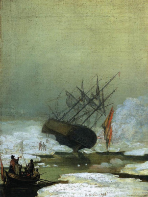 Caspar David Friedrich. Wreck at sea