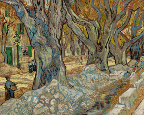 Vincent van Gogh. Large plane trees (Road workers in Saint-Rémy)