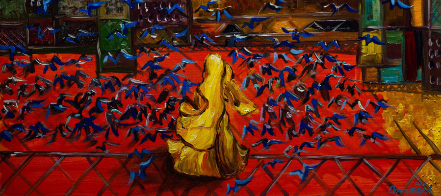 "Alla Struchayeva. Painting ""Going"""