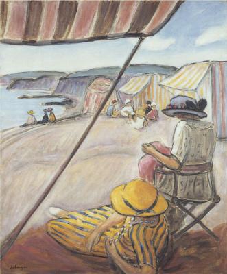 Henri Lebasque. The beach in St Gildas