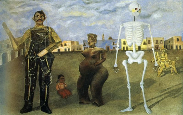 Frida Kahlo. Four inhabitants of Mexico