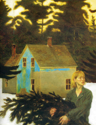 Jamie Wyeth. Black spruce