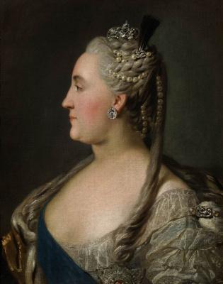 Fedor Stepanovich Rokotov. Portrait of Catherine II. Etude