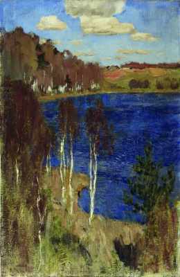 Isaac Levitan. The lake. Spring
