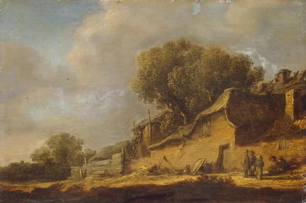Jan van Goyen. Landscape with a peasant hut
