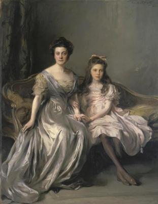 Philip De Alixis Laszlo. Portrait of a lady with her daughter (Portrait of Ani and Lani). 1910-1912