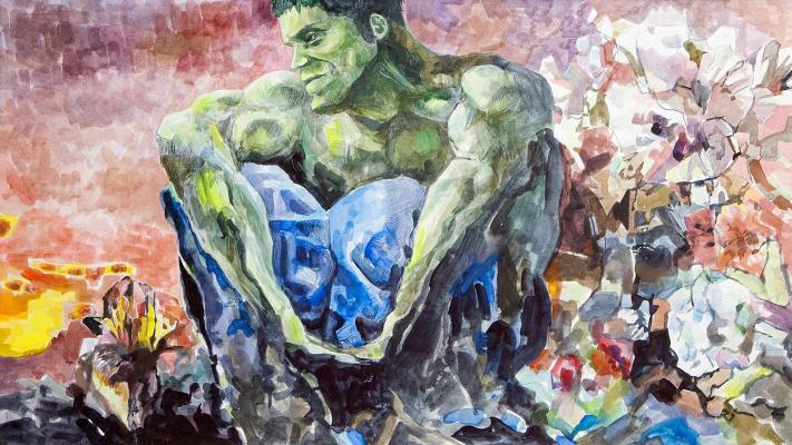 Евгений Морозов. Hulk sitting