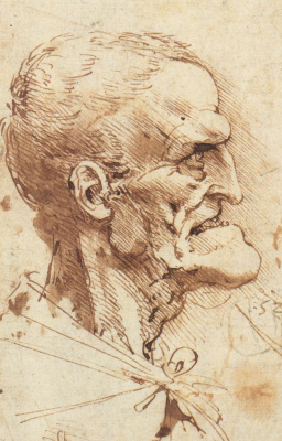 Leonardo da Vinci. Grotesque profile