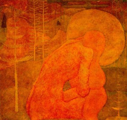 Kazimir Severinovich Malevich. Sketch of fresco painting. Prayer