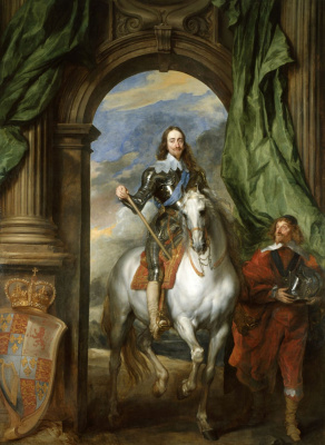 Anthony van Dyck. Charles I and the Senor de Saint-Antoine