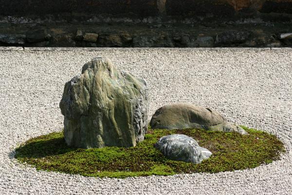 Ни один ни один Со. Реан-дзи и сад камней в Киото, деталь