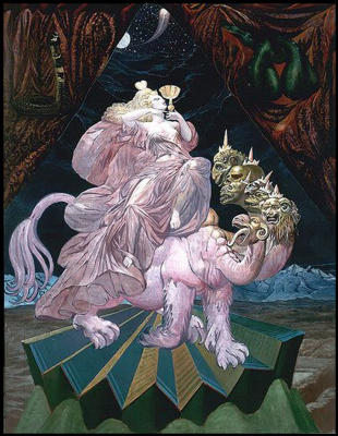 Ernst Fuchs. The whore of Babylon. The project for the parish of St. egid parish Church of Klagenfurt