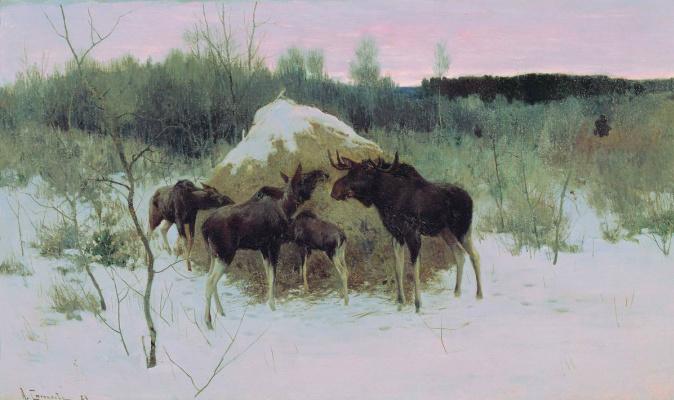 Alexey Stepanovich Stepanov (1858-1923). Moose 1889