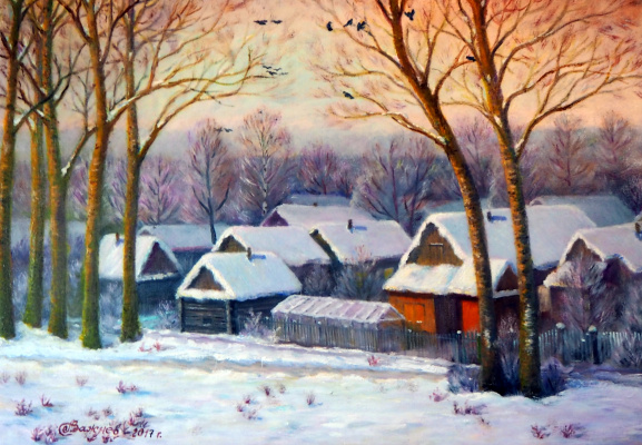 "Александр Федорович Важнев. ""And in Gorbatovka again winter"""
