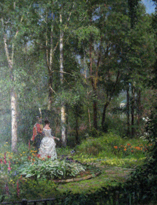 Aleksandr Chagadaev. In the garden