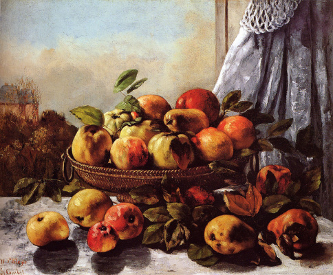 Gustave Courbet. Still life with fruits