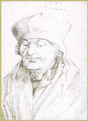Albrecht Durer. Portrait Of Erasmus Of Rotterdam