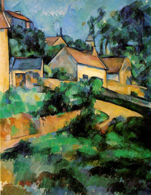 Paul Cezanne. The bend in the road in Manjeru