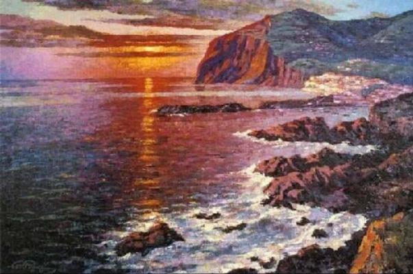 Winston Churchill. The Bay of Camara de Lobos. Madeira.