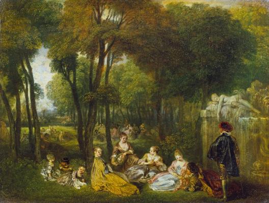 Antoine Watteau. Champs Elysees