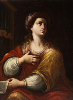 Artemisia Gentileschi. Saint Cecilia