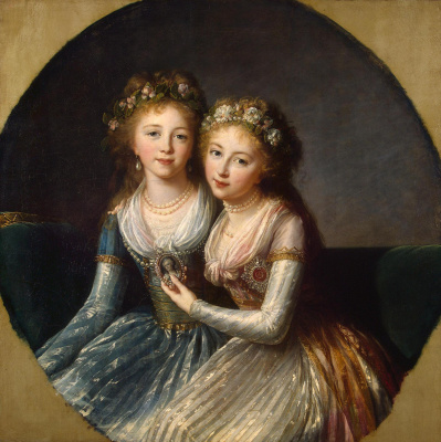 Elizabeth Vigee Le Brun. Portrait of the daughters of Emperor Paul I