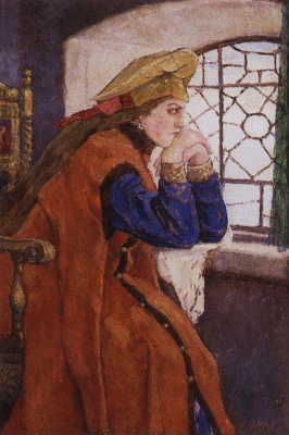 Victor Mikhailovich Vasnetsov. The Princess at the window (Princess Nesmeyana)