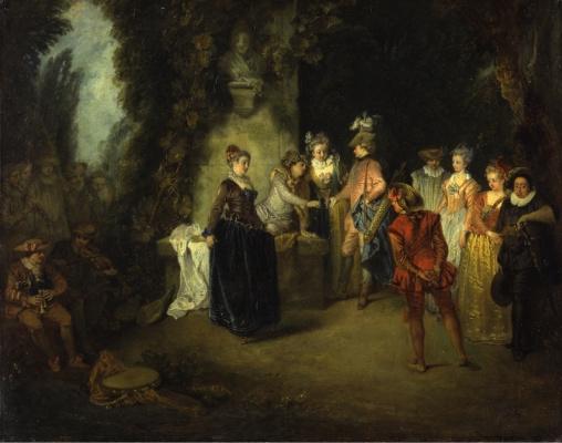 Antoine Watteau. French Comedy