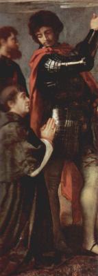 Titian Vecelli. The Altar Of Averoldi. Snippet: Bishop Altobello, Averoldi