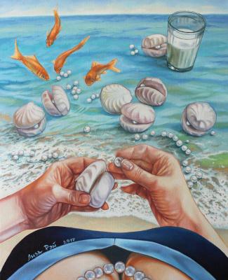 Lisa Ray. Marshmallow pearls