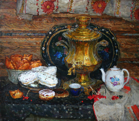 Sergey Nikolaevich Oleynikov. Samovar with pies