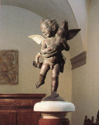 Andrea del Verrocchio. Putto with a Dolphin
