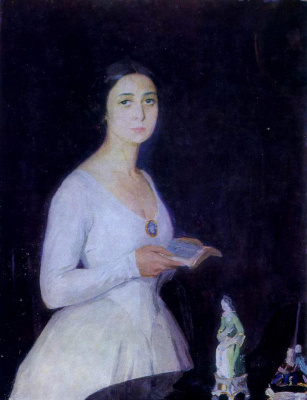 Saveliy Abramovich Sorin. Portrait of the actress N. G. Kovalenskaya. 1914