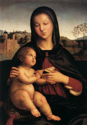 Raphael Santi. Reading Madonna