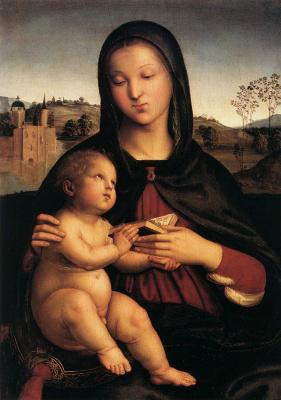Raphael Sanzio. Reading Madonna