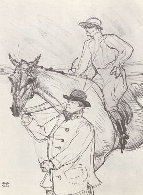 Henri de Toulouse-Lautrec. The jockey on the way to the scales